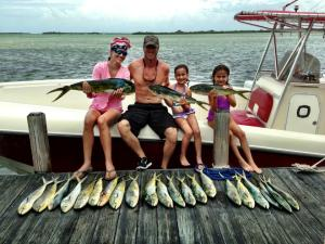 They are not trophies but we caught dinner, kids. Total fish count was about 65 for the week.
