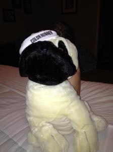 """I'm too tired to find Sadie."" Random stuffed animal."