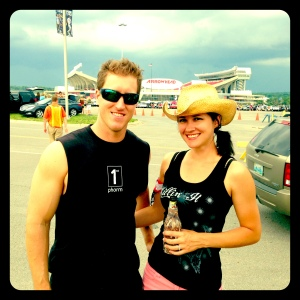 Hey Ben! Throwback Thursday! It's Aunt Jules and Uncle Scott at the Kenny Chesney/Eric Church concert! Rock on out of womb and look at us!
