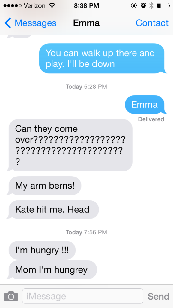 One of my biggest parenting decisions is to introduce Emma to her own iPod with text messaging.