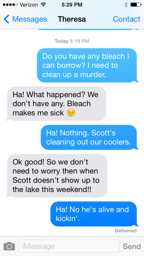 "My friends are unphased by my ""cleaning up a murder"" request. I'll murder for Bruno Mars."